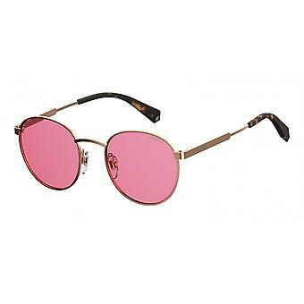 نظارات شمسية للجنس 2053/S35J/0F الذهب / الوردي