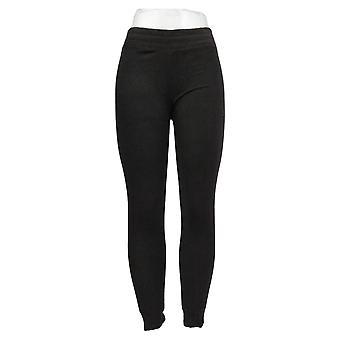 Cuddl Duds Leggings Fleecewear Stretch Full Length Black A369295