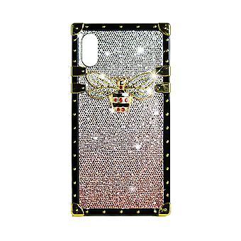 Telefon Cauza Eye-Trunk Bee GG Pentru iPhone XS (Roz)