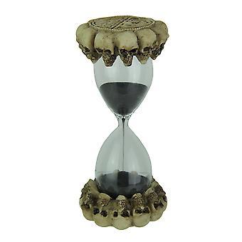 Gotyckie celtyckie czaszki klepsydra czarny piasek zegar