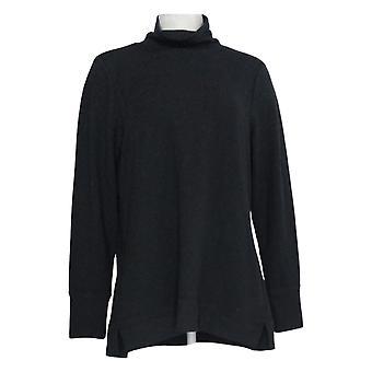 H بواسطة هالستون المرأة & apos;ق أعلى قمع الرقبة طويلة الأكمام ث / جيوب سوداء A370649