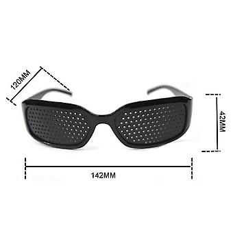 Eyewear Eyesight Care Trening Øye Pinhole Briller Anti-tretthet For Pc Screen Goggle Txtb1 (svart)