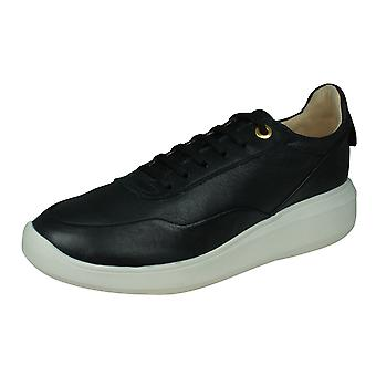 Geox D Rubidia A Womens Nappa Leather Trainers - Black