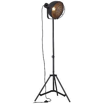 LAMPADA BRILLIANT Lampada Jesper Lampada da pavimento 39cm Griglia Nera 1x A60, E27, 60W, adatto per lampade normali (non incluse)
