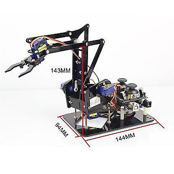 رخيصة 4 محور الاكريليك الروبوت الذراع لاردوينو مخلب القابض الروبوتية مع Sg90 سيرفوس لعبة