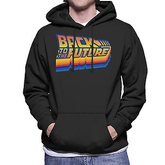 Back to the Future Gradient Logo Men's Hooded Sweatshirt