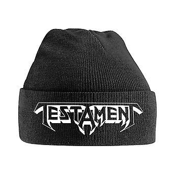 Testament Beanie Hat Band Logo nouveau officiel noir