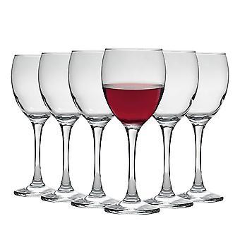 Vajilla de argón Copas de Vino Tinto - Caja de Regalo de 6 Gafas - 340ml (12oz)