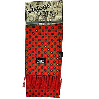 Ties Planet Tootal Red With Royal Blue Flower & Beige Patterned Men's Silk Scarf