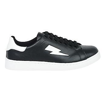 Neil Barrett Thunderbolt Low Cut Black Sneakers