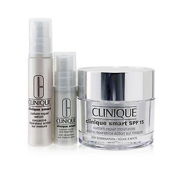 Skincare Specialists Clinique Smart Custom-Repair Set: Moisturizer SPF 15 50ml + Serum 10ml + Eye Treatment 5ml 3pcs