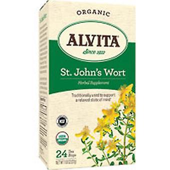 Alvita Teas St. Johns Wort Tea, Luomu, 24 Laukkua