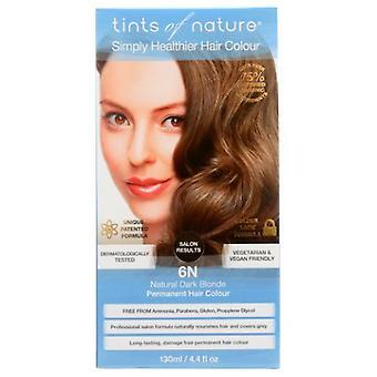 Tints of Nature Permanent Hair Color, 6N Natural Dark Blonde 4.4 Oz