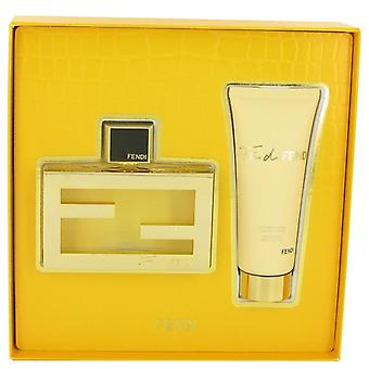 Fläkt di Fendi Gift Set av Fendi 2,5 oz Eau de Parfum Spray + 2,5 oz Body Lotion
