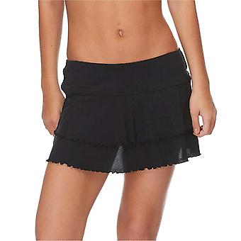 Body Glove Women's Smoothies Lambada Solid Mesh Cover Up Skirt Swimsuit, Blac...