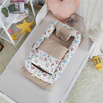 Culla pieghevole con stampa carattere, chaise longue portatile per bambini, mini letto