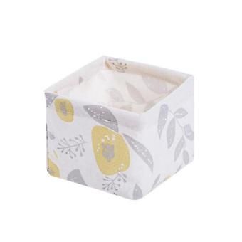Foldable Sundries Storage Basket, Cute Printing Cosmetics Container, Organizer