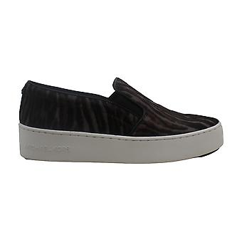Michael Michael Kors Womens Trent Pom Leather Low Top Slip On Fashion Sneakers