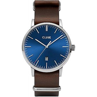Cluse CW0101501008 Aravis Brown Nato Leather Wristwatch