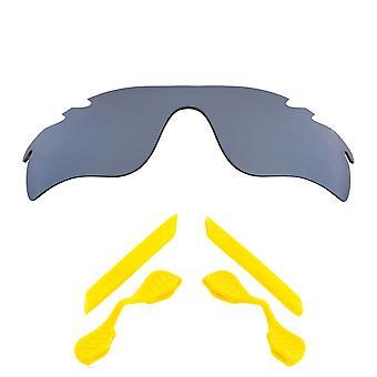 الاستقطاب استبدال العدسات عدة ل Oakley تنفيس مسار Radarlock الفضة الصفراء المضادة للخدش ضد الوهج UV400 SeekOptics