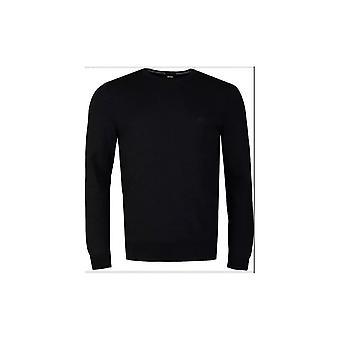 הוגו בוס בוטו-l כותנה רזה בכושר סוודר שחור
