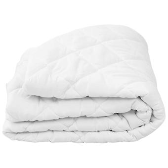 Madrass sparare Quilted White 90×200 cm Ljus