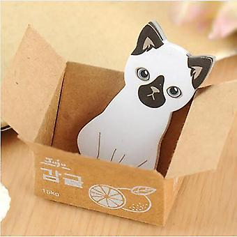 Cute Cat Diy Sticky Notes, Self-adhesive Planner Sticker, Decoration Notepads