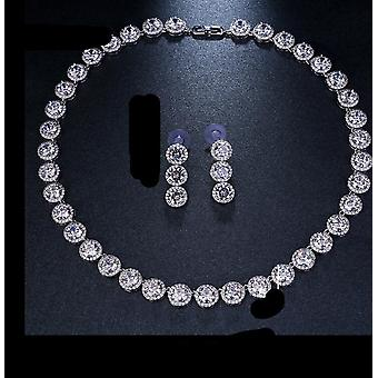 Gorgeous Round Jewelry -aaa Cubic Zircon Wedding Jewelry Sets For Lover Brides