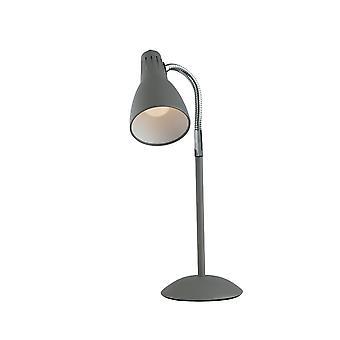 Lampe de travail réglable de table, gris, E14