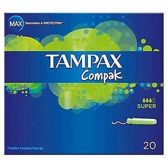 Tampax Compact Super 20's x6