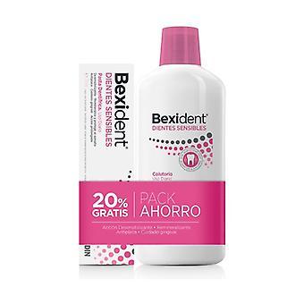 Pack Bexident Gums Dagelijks Gebruik Mondwater + Tandpasta 500 ml + 75 ml