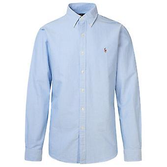 Ralph Lauren 710549084007 Mænd's lyseblå bomuldsskjorte