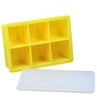 Plateaux de cube de glace en silicone avec couvercles