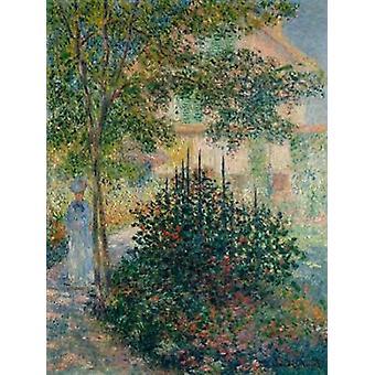 Argenteuil Juliste Tulosta Claude Monet puutarhassa