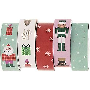 Christmas Washi Tape - Nutcracker SoldierPresents & Santa Set of 5