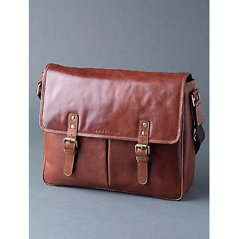 Loweswater Leather Messenger Bag in Tan
