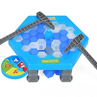Drop Ship Save Penguin Kids Puzzle Game Break Ice Block Hammer Trap Party Toy