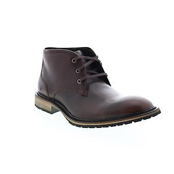 Andrew Marc Woodside  Mens Brown Leather Chukkas Boots