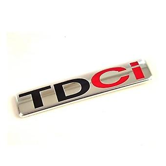 Black/Red TDCi Rear Fender Front Grill Bonnet Badge Emblem Boot 82mm x 17mm