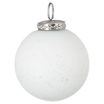 The Noel Collection Glass Crackle Effect Christmas Bauble
