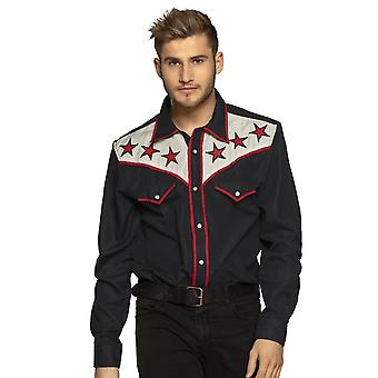Dress-up shirt Rodeo Gentlemen Black Size L