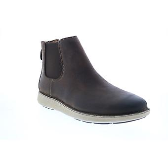 Clarks Un Larvik Up  Mens Brown Leather Chelsea Boots