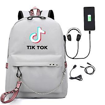 TikToK طالب حقيبة مدرسية على ظهره حقيبة usb