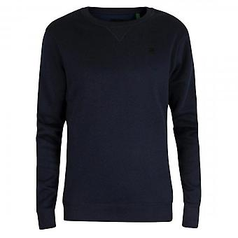 G-Star G- Star Raw Premium Core Crew Sweatshirt Navy Blue D16917