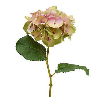 Kunsthortensia Deluxe Steel Flower 45 cm roze