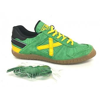 Scarpe Unisex Munich Sneaker Goal Verde Giallo Tessuto Camoscio  Us16mu10