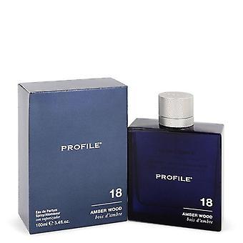 18 Amber Wood Eau De Parfum Spray By Profile 3.4 oz Eau De Parfum Spray