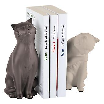 Koty Bookend, beżowy-taupe