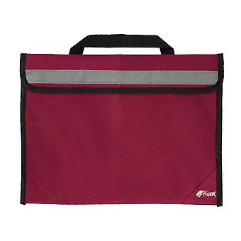Tiger msa63 sheet music bag - school book bag with reflective strip - red