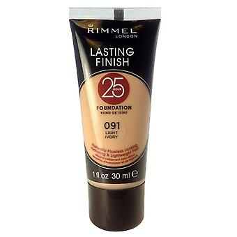 Rimmel Lasting Finish 25 Hour Foundation - 091 Light Ivory